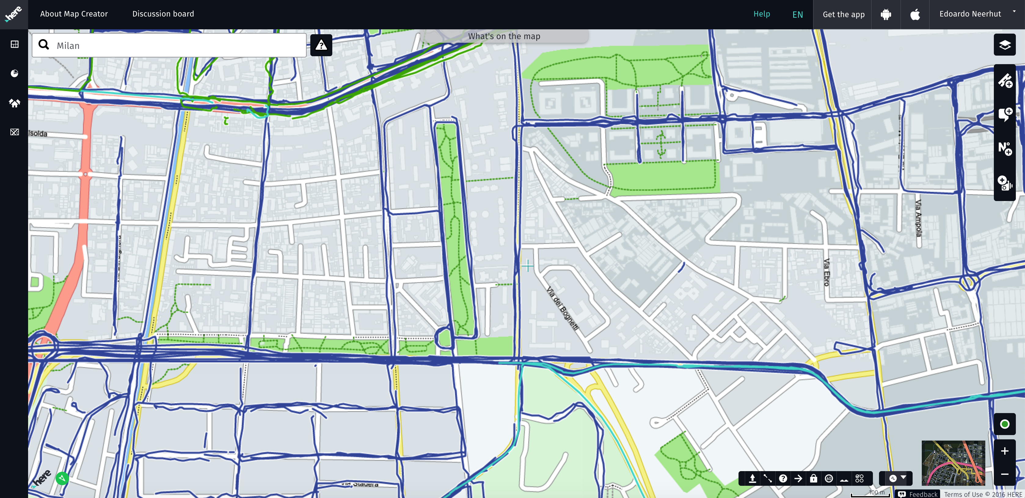 Map Creator.Here Map Creator Mapillary